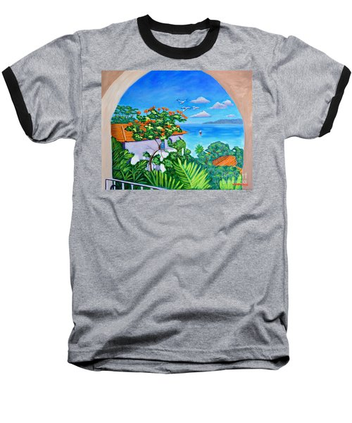 The View From A Window Baseball T-Shirt