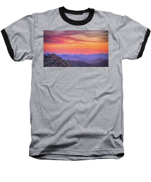 The View From Above Baseball T-Shirt by Anthony Citro
