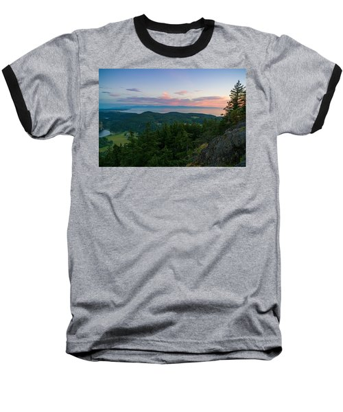 Baseball T-Shirt featuring the photograph The View From Mt Erie by Ken Stanback