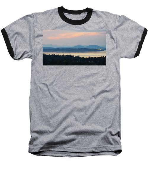 The View From Mt. Tolmie Baseball T-Shirt by Keith Boone