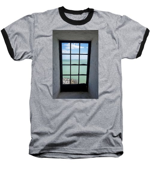 The View From The Lighthouse Window Bill Baggs Lighthouse Key Biscayne Florida Baseball T-Shirt