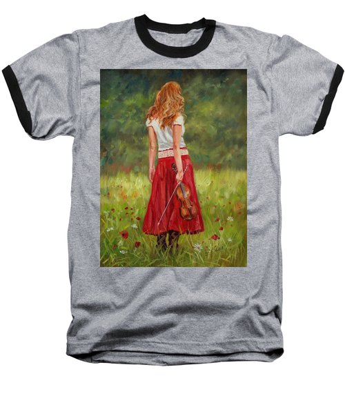 The Violinist Baseball T-Shirt