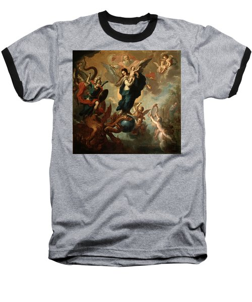 Baseball T-Shirt featuring the painting The Virgin Of The Apocalypse by Miguel Cabrera