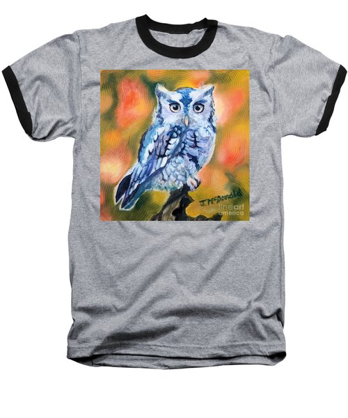 Baseball T-Shirt featuring the painting The Visitor by Janet McDonald