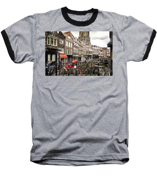 Baseball T-Shirt featuring the photograph The Vismarkt In Utrecht by RicardMN Photography