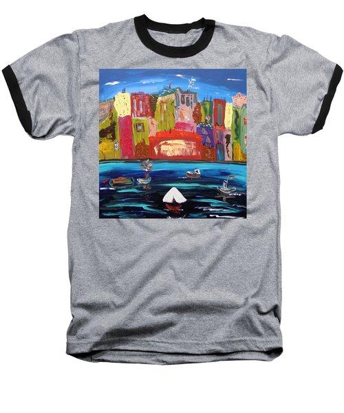 The Vista Of The City Baseball T-Shirt by Mary Carol Williams