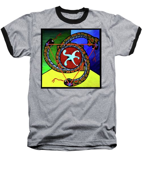 The Vitruvian Serpent Baseball T-Shirt