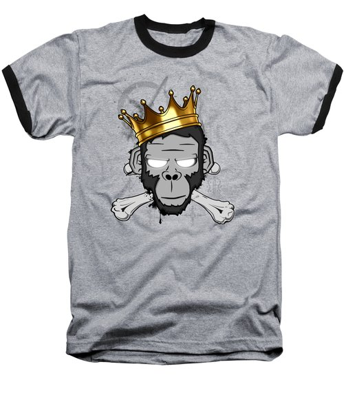 Baseball T-Shirt featuring the digital art The Voodoo King by Nicklas Gustafsson