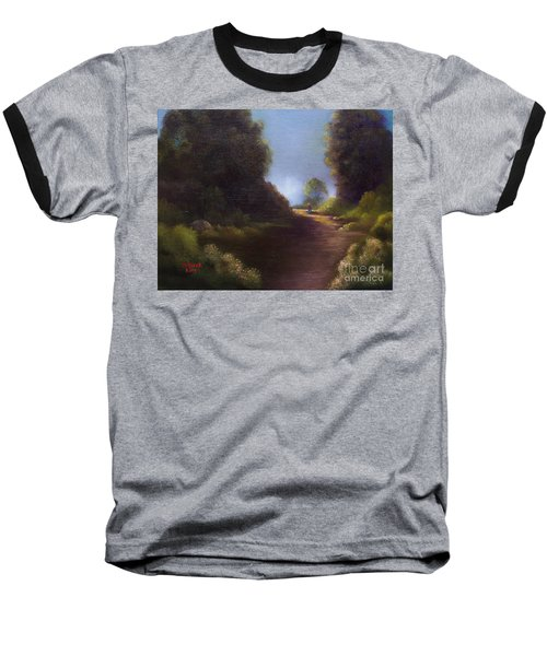 Baseball T-Shirt featuring the painting The Walk Home by Marlene Book