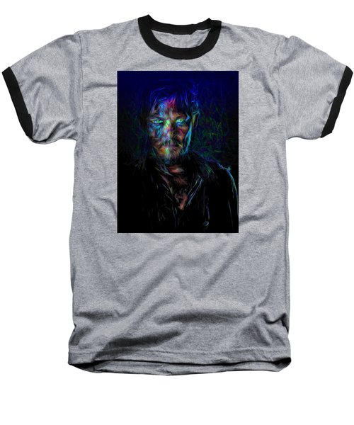 The Walking Dead Daryl Dixon Painted Baseball T-Shirt