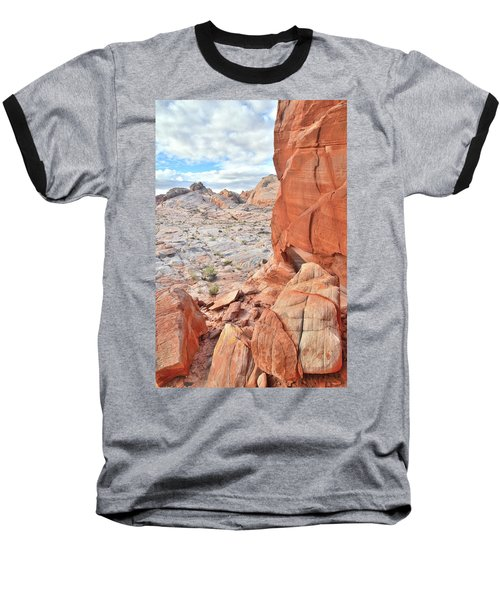 The Wall At Valley Of Fire Baseball T-Shirt by Ray Mathis