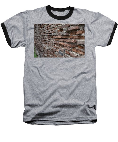 Baseball T-Shirt featuring the photograph The Wall by Cendrine Marrouat