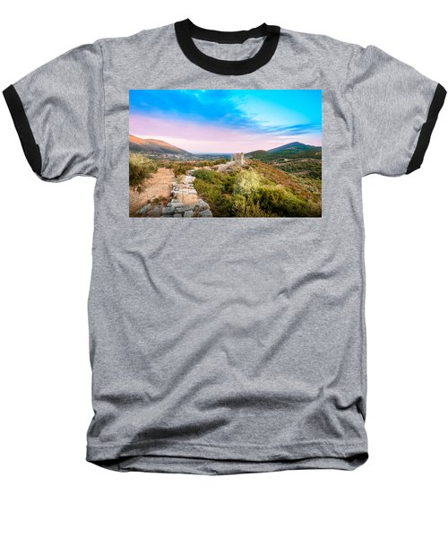 The Walls Of Ancient Messene - Greece. Baseball T-Shirt by Stavros Argyropoulos