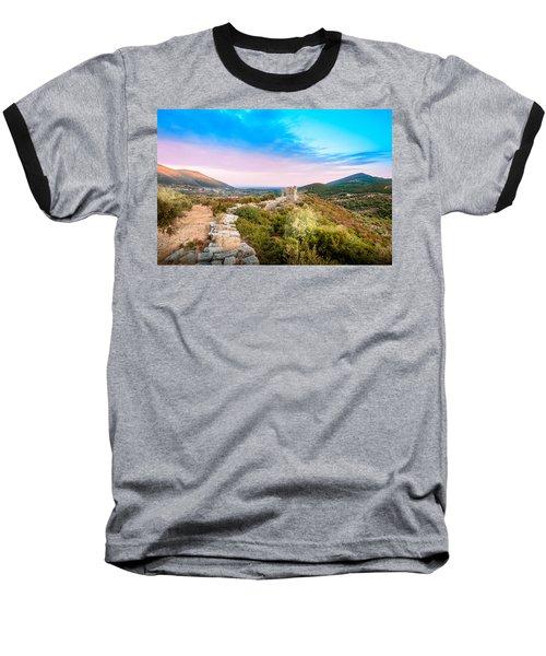 The Walls Of Ancient Messene - Greece. Baseball T-Shirt