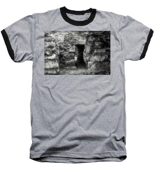 The Walls Of Tulum B/w Baseball T-Shirt