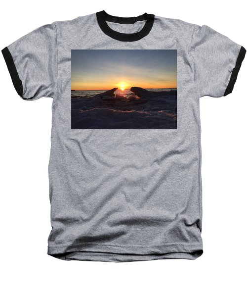 Baseball T-Shirt featuring the photograph The Walrus And The Bear by Paula Brown