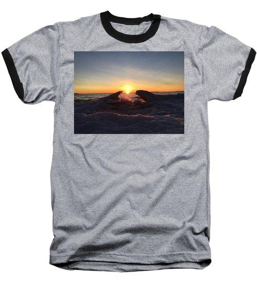 The Walrus And The Bear Baseball T-Shirt by Paula Brown