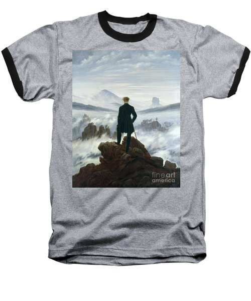 The Wanderer Above The Sea Of Fog Baseball T-Shirt