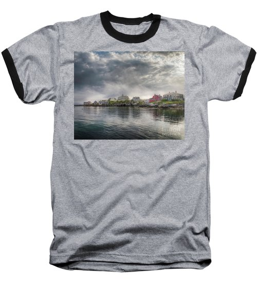 Monhegan Harbor View Baseball T-Shirt