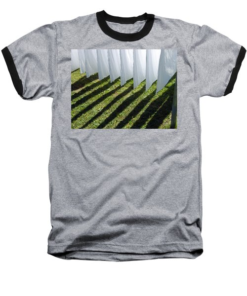 The Washing Is On The Line - Shadow Play Baseball T-Shirt