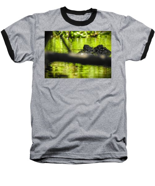 The Watcher In The Water Baseball T-Shirt