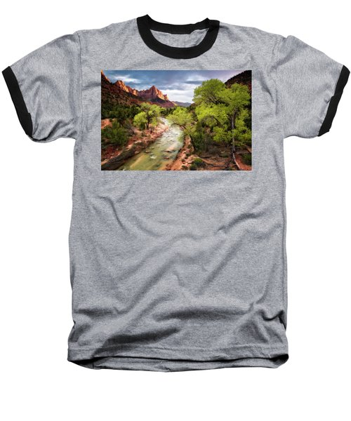 Baseball T-Shirt featuring the photograph The Watchman by Eduard Moldoveanu