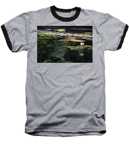 The Water Lily Baseball T-Shirt by Cendrine Marrouat