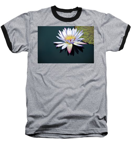 The Water Lily Baseball T-Shirt by David Sutton