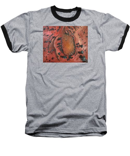 Baseball T-Shirt featuring the painting The Watering Hole - Original Sold by Therese Alcorn