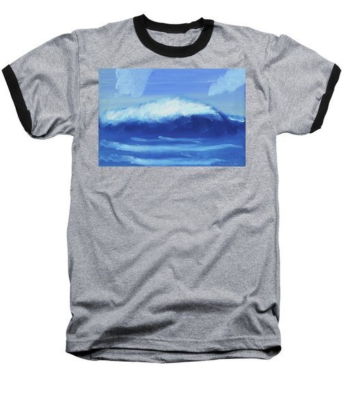 The Wave Baseball T-Shirt by Artists With Autism Inc