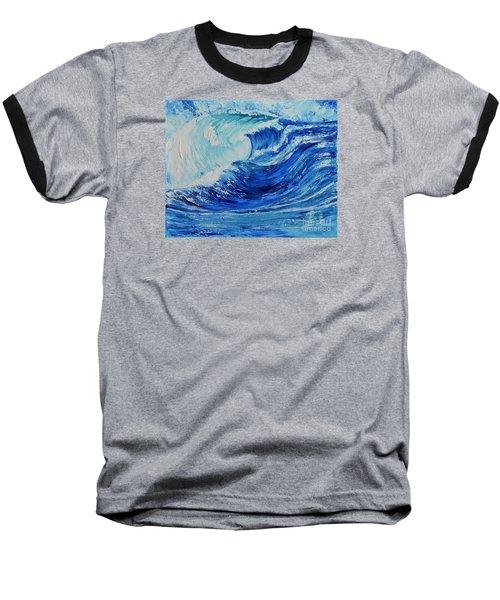 The Wave Baseball T-Shirt by Teresa Wegrzyn