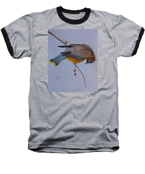 The Waxwing  Baseball T-Shirt by Tony Clark