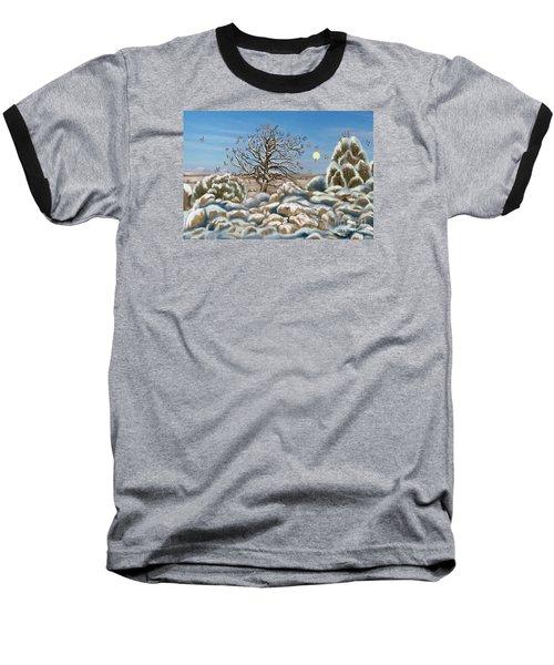 The Waxwing Tree Baseball T-Shirt by Dawn Senior-Trask