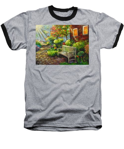 Baseball T-Shirt featuring the painting The Way Home by Emery Franklin