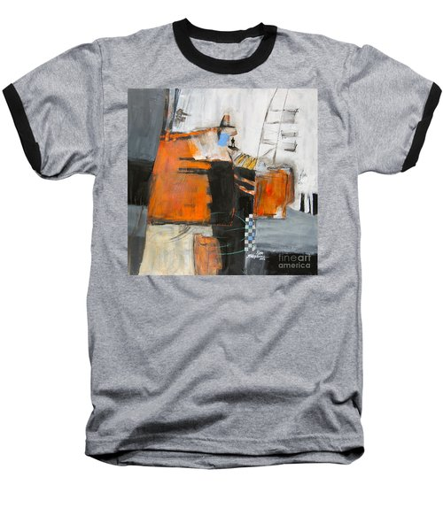 Baseball T-Shirt featuring the painting The Way Out by Ron Stephens