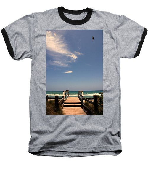 The Way Out To The Beach Baseball T-Shirt by Susanne Van Hulst