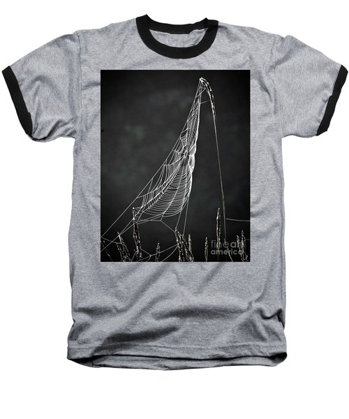 Baseball T-Shirt featuring the photograph The Web by Tom Cameron