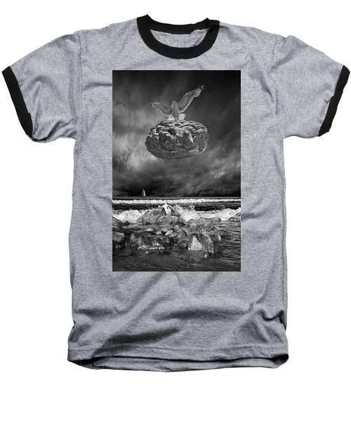 Baseball T-Shirt featuring the photograph The Weight Is Lifted by Randall Nyhof