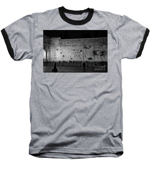 Baseball T-Shirt featuring the photograph The Western Wall, Jerusalem by Perry Rodriguez