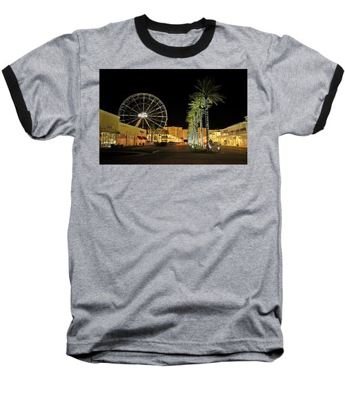 The Wharf At Night  Baseball T-Shirt