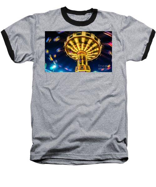 The Wheel Baseball T-Shirt by David Smith