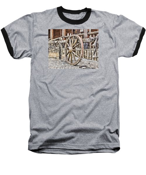 Baseball T-Shirt featuring the photograph The Wheel Rolls On by B Wayne Mullins