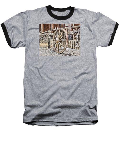 The Wheel Rolls On Baseball T-Shirt by B Wayne Mullins
