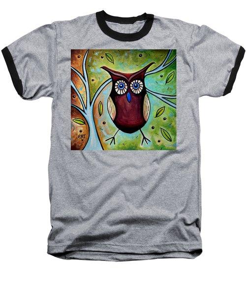 The Whimsical Owl Baseball T-Shirt
