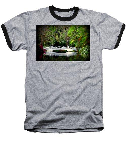 The White Bridge In Magnolia Gardens Sc Baseball T-Shirt