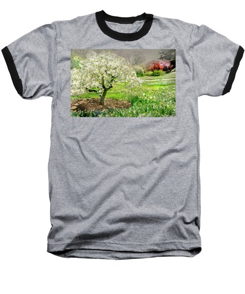Baseball T-Shirt featuring the photograph The White Canopy by Diana Angstadt