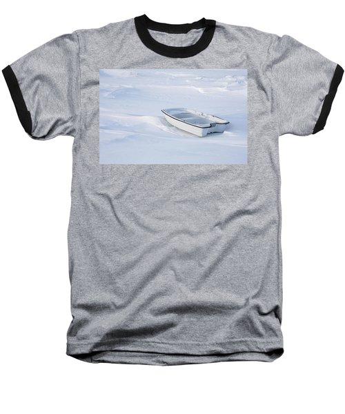 The White Fishing Boat Baseball T-Shirt