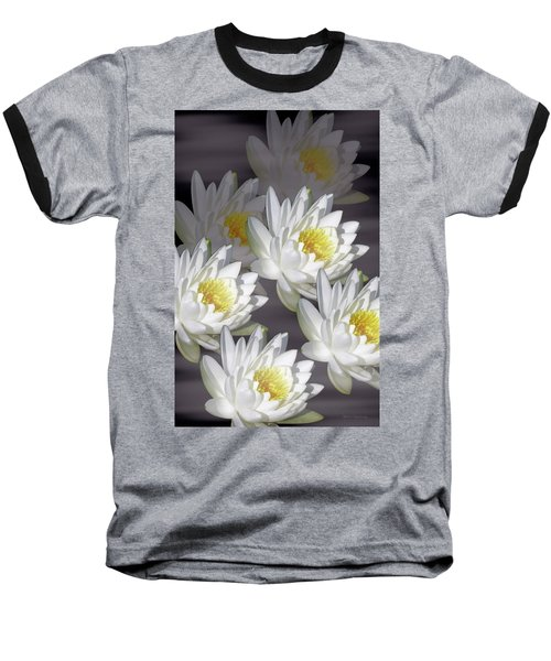 The White Garden Baseball T-Shirt by Rosalie Scanlon
