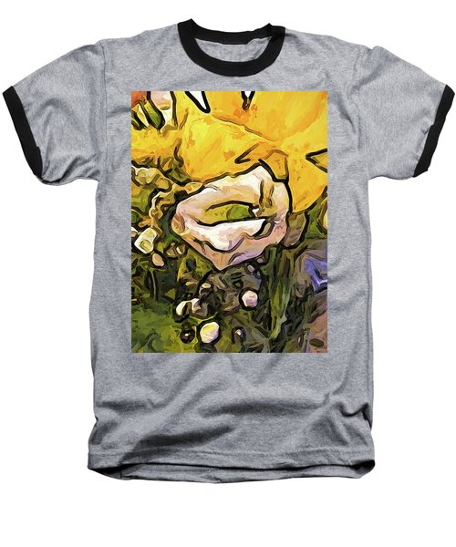 The White Rose With The Eye And Gold Petals Baseball T-Shirt