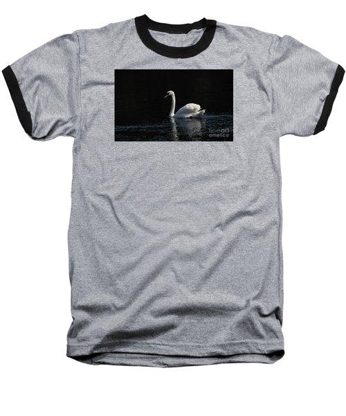 The White Swan Baseball T-Shirt by David  Hollingworth